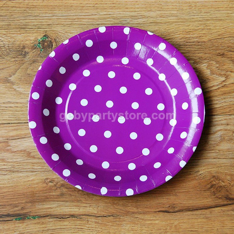 TABLE WARE » PLATES » PURPLE POLKADOT PAPER PLATE (10PCS) \u2022 Complete Party Supply for Any Occasion  sc 1 st  Complete Party Supply for Any Occasion & TABLE WARE » PLATES » PURPLE POLKADOT PAPER PLATE (10PCS) \u2022 Complete ...