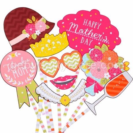 HAPPY MOTHER'S DAY PROPERTY PHOTOBOOTH 9PCS