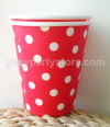 RED POLKADOT PAPER CUP