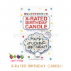 XRATED BIRTHDAY CANDLE